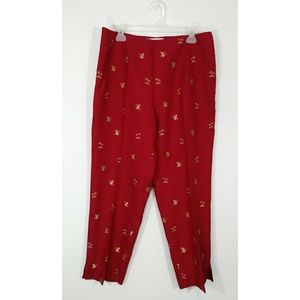 Peter Martin embroidered pants size 14